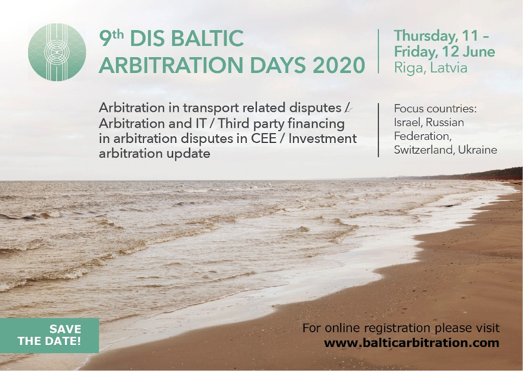 THE 9TH DIS BALTIC ARBITRATION DAYS 2020